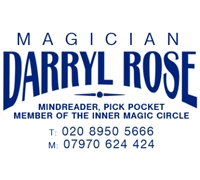 Darryl Rose MIMC, Close up & Cabaret & C