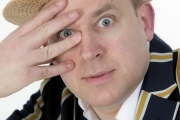 Tim Vine prepares to Shake with Laughter at the Comedy Store